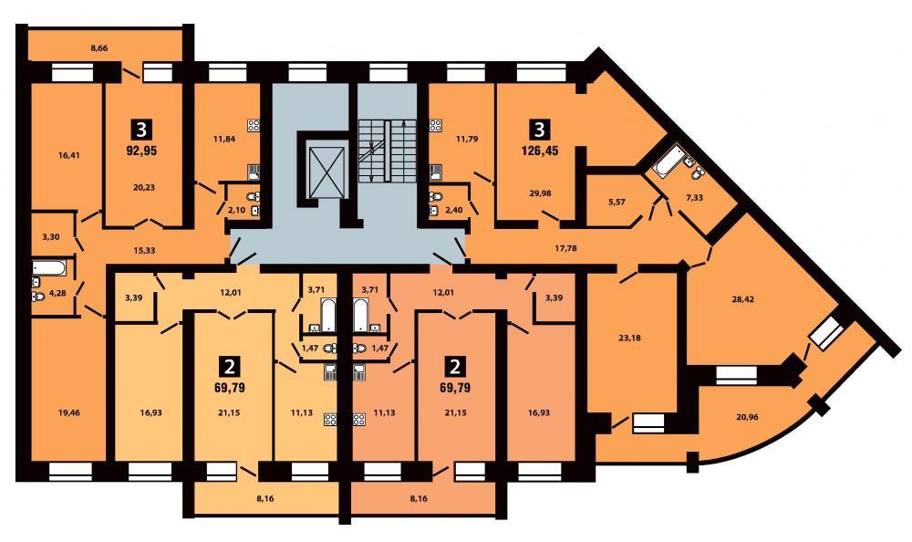 План 4 секция 6-10 этаж