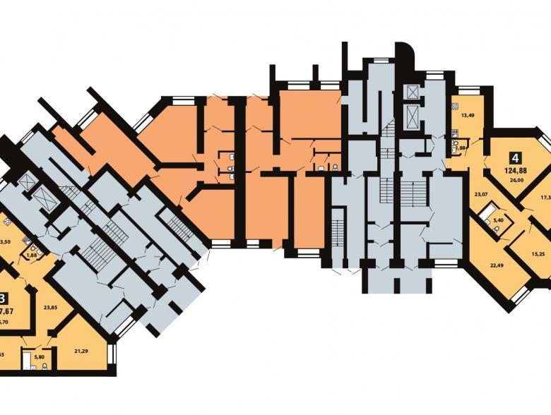 Планировка 3-го этажа - ул. Копылова, д. 19